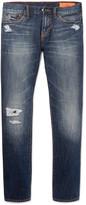 Jean Shop Mick Slim-Fit Distressed Selvedge Denim Jeans