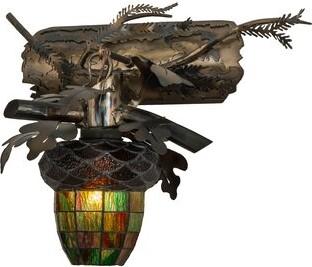 Oak Leaf and Acorn 1-Light Armed Sconce Meyda Tiffany