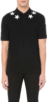 Givenchy Star-appliqués cotton-piqué polo shirt