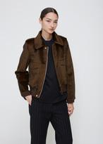 Toga Brown Fake Fur Bomber Jacket