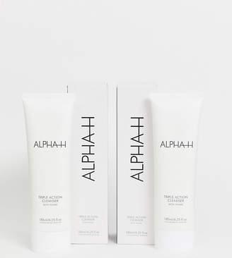 Alpha-h Triple Action Cleanser Duo SAVE 50%-No Colour
