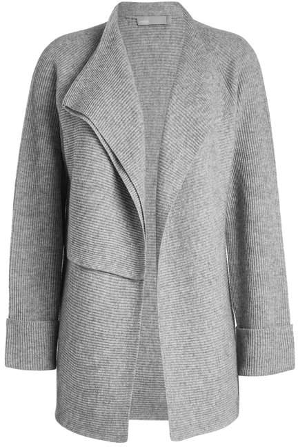 Vince Double Breasted Cardigan in Wool-Cashmere Blend