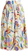 Etro Morna graphic-printed cotton skirt