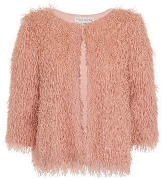 Paper Dolls Outlet Blush Mini Fringe Jacket