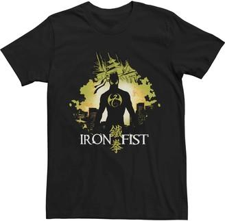 Iron Fist Men's Marvel Silhouette Portrait Tee