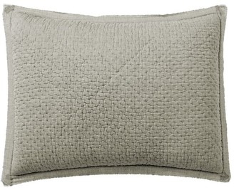 Pottery Barn Melange Handcrafted Cotton Quilted Sham
