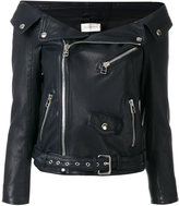 Faith Connexion off the shoulder biker jacket