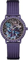 GUESS Women's Purple Stainless Steel Mesh Bracelet Watch 35mm U0822L4