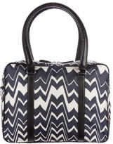 Missoni Leather-Trimmed Woven Weekender
