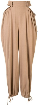 Dion Lee Gathered Tie Tapered Trousers