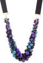 Blue Cluster And Ribbon Necklace