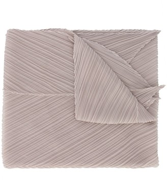 Pleats Please Issey Miyake Micro-Pleated Pointed Scarf