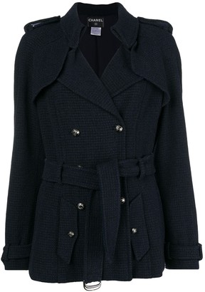 Chanel Pre-Owned double-breasted belted coat