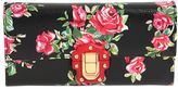 Dolce & Gabbana Lucia Rose Printed Leather Clutch