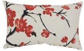 Pillow Perfect Beige/Red Flowering Branch Throw Pillow