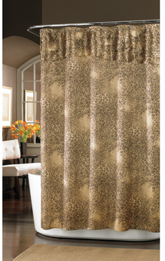 "Nicole Miller Wild at Heart 72"" x 72"" Fabric Shower Curtain"