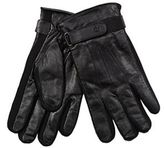 Jeff Banks Black Leather Touch Screen Compatible Gloves