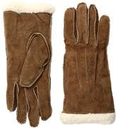 Isotoner Women's Suede Gloves with Moccasin Stitch and Sherpa Soft Lining