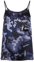 Atm Silk Camouflage Printed Camisole