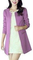 Donalworld Women Long Trench Coat Slim Long Cardigan Asian Size 3XL