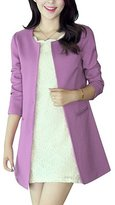 Donalworld Women Long Trench Coat Slim Long Cardigan Asian Size L