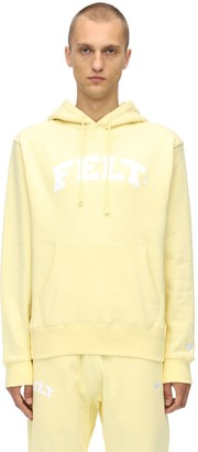 Felt   For Every Living Thing Warm Up Cotton Jersey Sweatshirt Hoodie