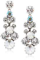 Sorrelli Core Antique Silver Tone Crystal Rock Well-Rounded Drop Earrings
