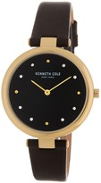 Kenneth Cole New York Women's Leather Strap Watch, 34mm