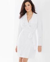 Soma Intimates Baby Terry Cotton Blend Short Robe White-White