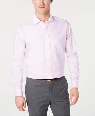Tasso Elba Men Classic/Regular-Fit Non-Iron Supima Cotton Small Herringbone French Cuff Dress Shirt