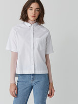 Frank + Oak Midi Oxford Shirt in Bright White