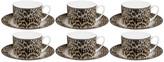 Roberto Cavalli Jaguar Tea Cups & Saucers