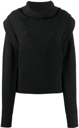 Isabel Marant Turtleneck Ribbed Knit Jumper