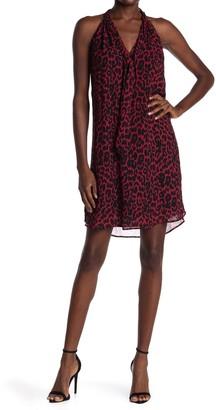 Fifteen-Twenty Sleeveless Tie Neck Leopard Print Dress