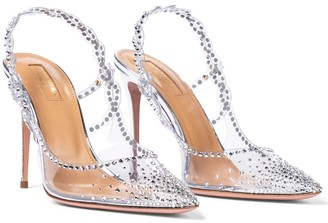 Aquazzura Heaven 105 embellished pumps