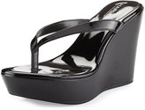 Charles by Charles David Flick Patent Leather Wedge Sandal, Black