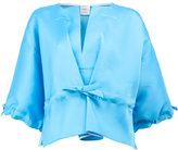 Maison Rabih Kayrouz drawstring cropped blouse - women - Silk/Polyester - 38
