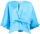 Maison Rabih Kayrouz drawstring cropped blouse
