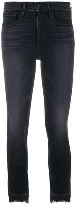 3x1 Frayed Hem Cropped Jeans
