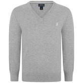 Ralph Lauren Ralph LaurenBoys Grey Knitted V Neck Sweater