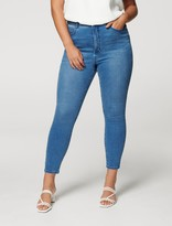 Thumbnail for your product : Forever New Belinda Curve High-Rise Ankle Grazer Jeans - Lyon Blue - 16