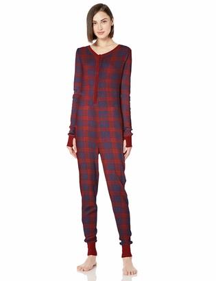 Retrospective Women's Onesie Thermal Long Sleeve Unionsuit Pajama