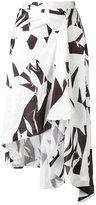 MM6 MAISON MARGIELA printed crumpled skirt - women - Polyester - 42