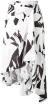 MM6 MAISON MARGIELA printed crumpled skirt