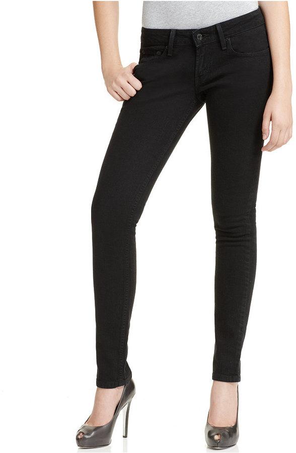 Levi's 524 Skinny Jeans, Black Wash