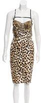 Just Cavalli Cheetah Print Midi Dress