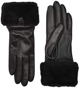 UGG Sheepskin Cuff Tech Leather Gloves (Black) Extreme Cold Weather Gloves