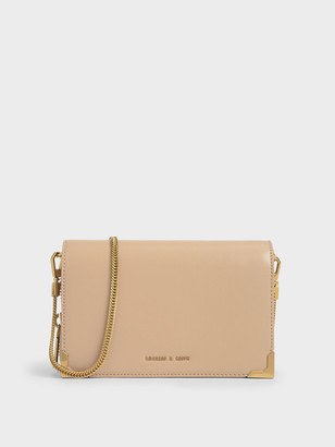 Charles & Keith Metallic Edge Crossbody Bag