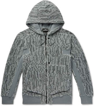 Stone Island Shadow Project Cotton-Blend Jacquard Fleece Jacket