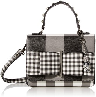 Betsey Johnson Bowing Out Gingham Crossbody